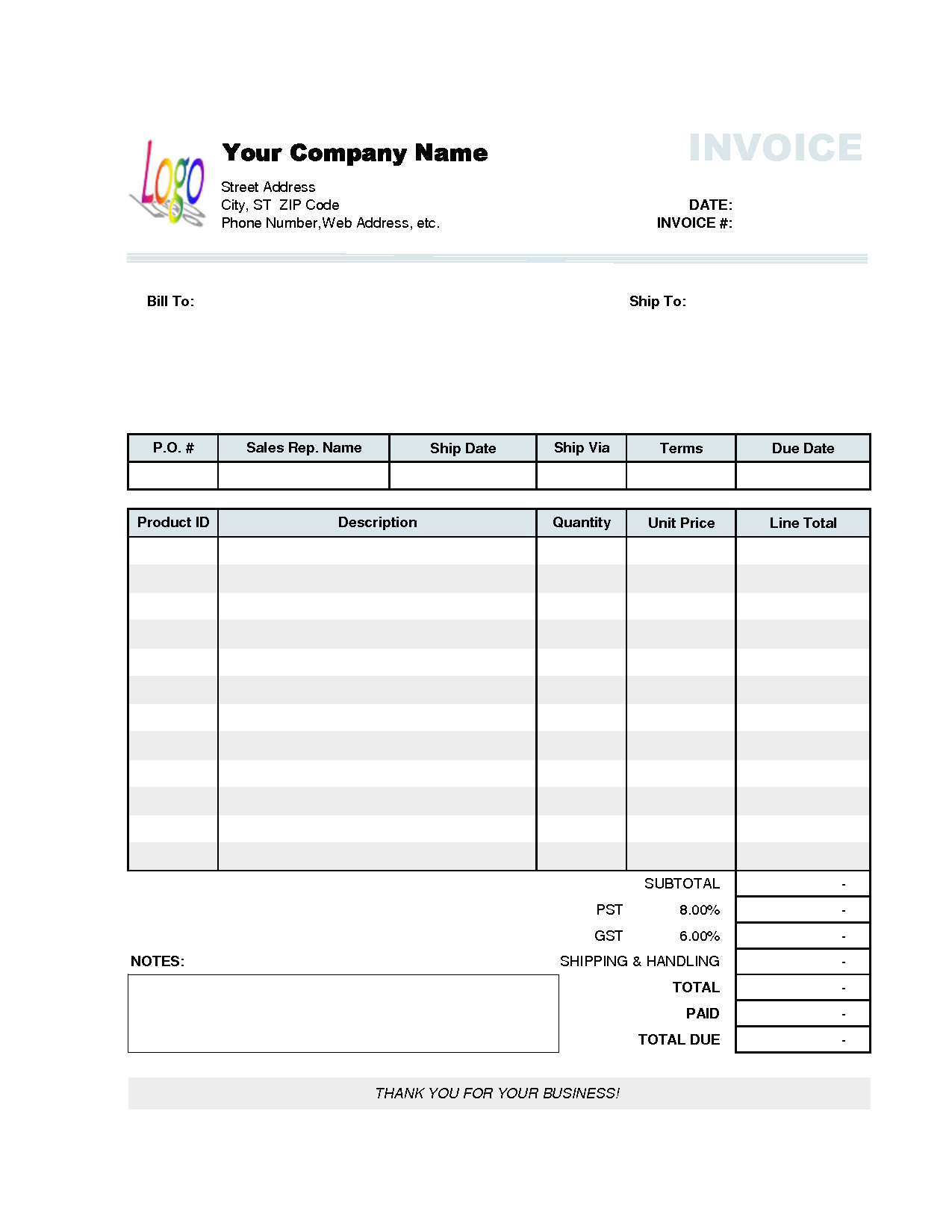Exel Invoice Template Invoice Template Excel 2010 Invoice Sample Template