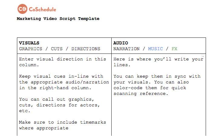 explainer video script template