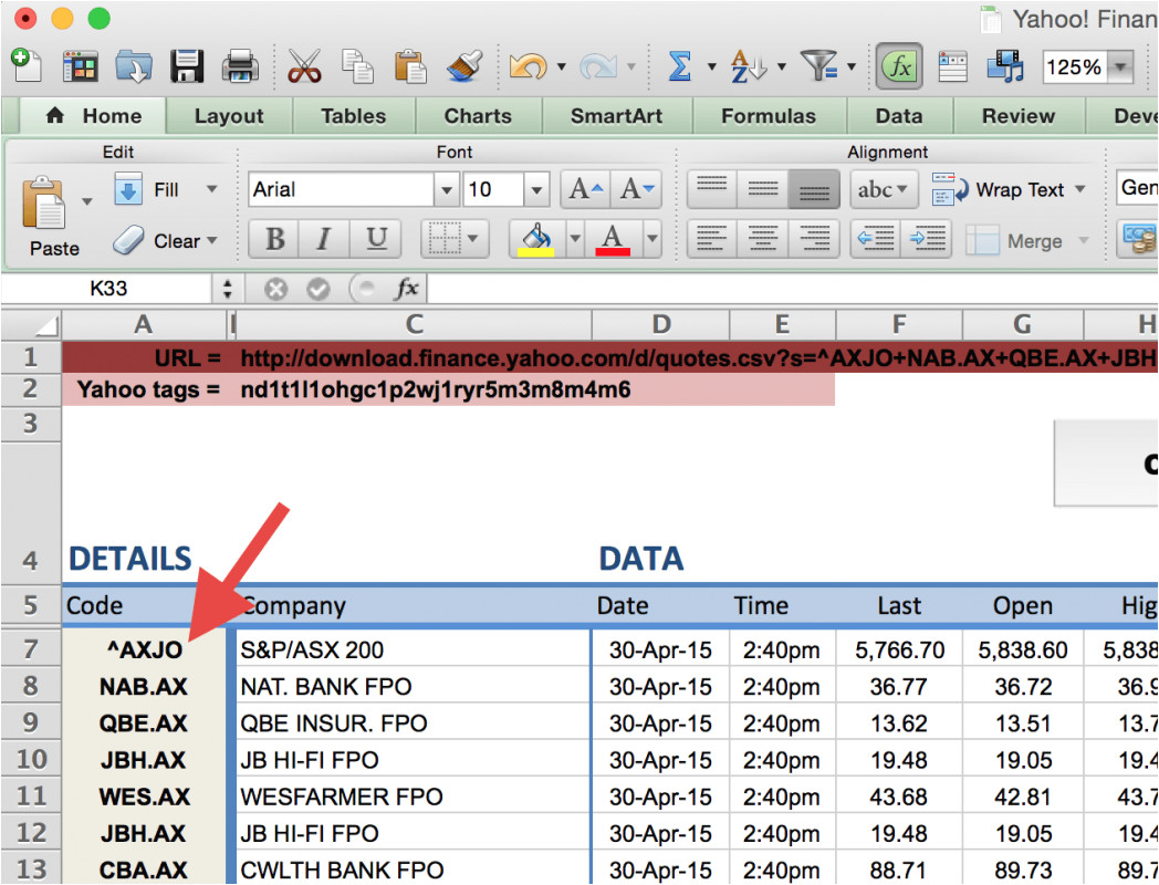 how to import share price data into excel market index export access database spreadsheet