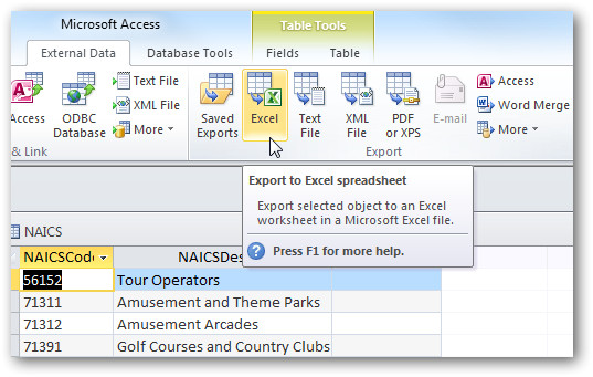 Export Access Data to Excel Template Share Access Data with Excel In Office 2010