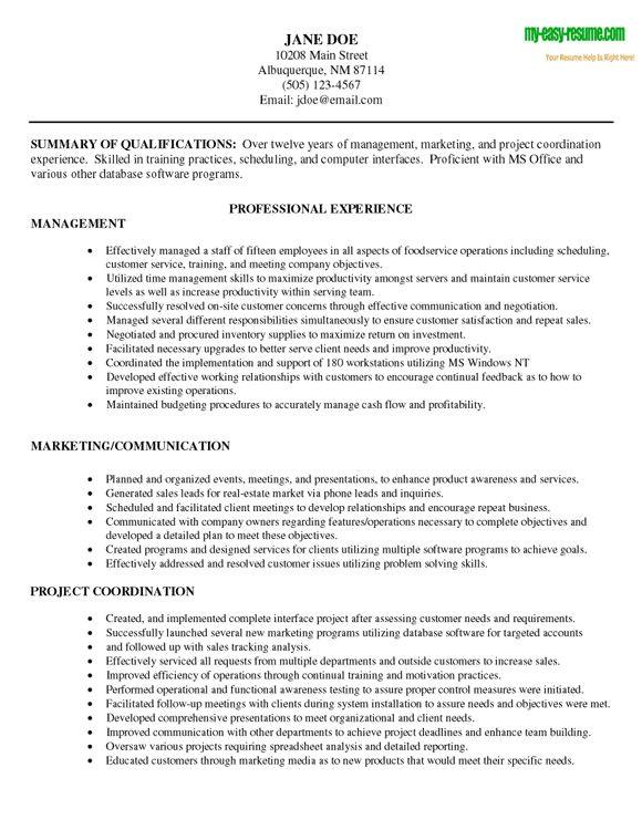 resume look