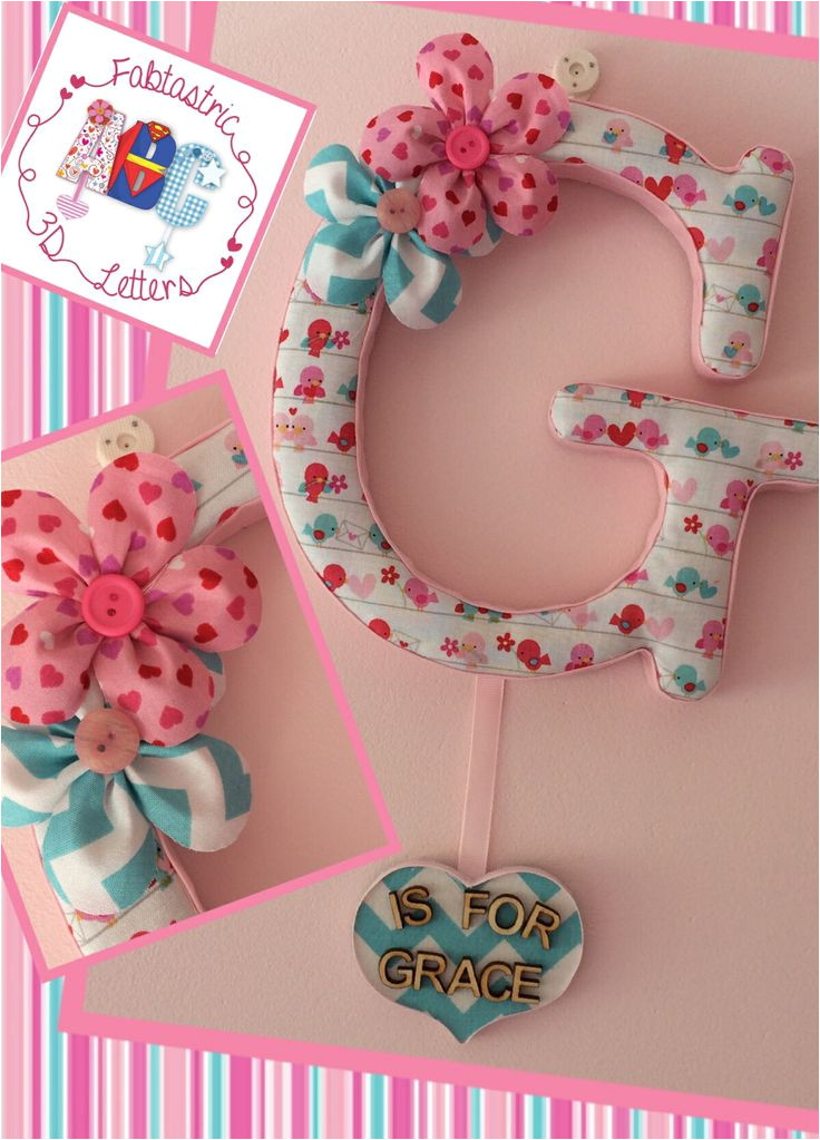fabric covered wall letters