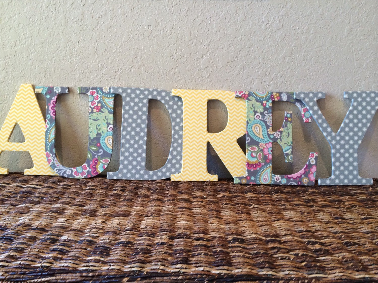 Fabric Covered Letters for Nursery Fabric Covered Wooden Letters Nursery Kids Roomnewlyweds