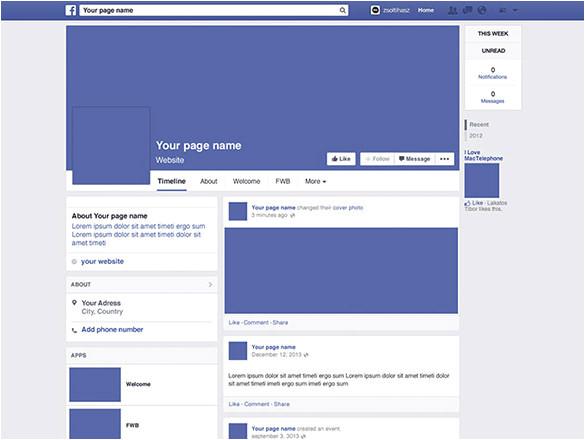psd facebook template