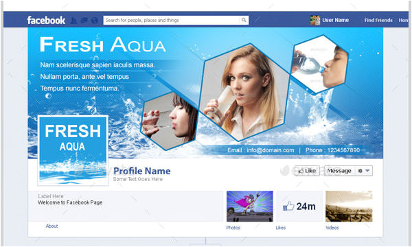 facebook business page templates