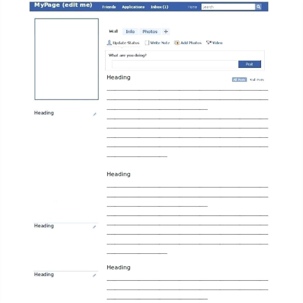 facebook template word