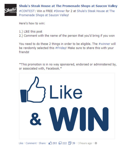 Facebook Photo Contest Rules Template New Facebook Contest and Promotion Rules What Marketers