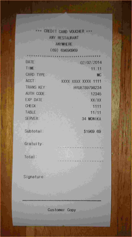 12 store receipt template