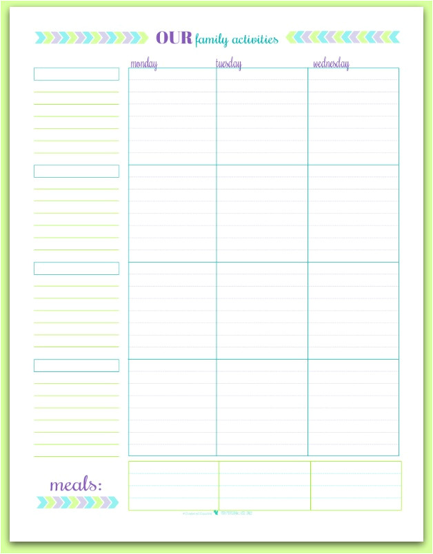 printable month june family schedules