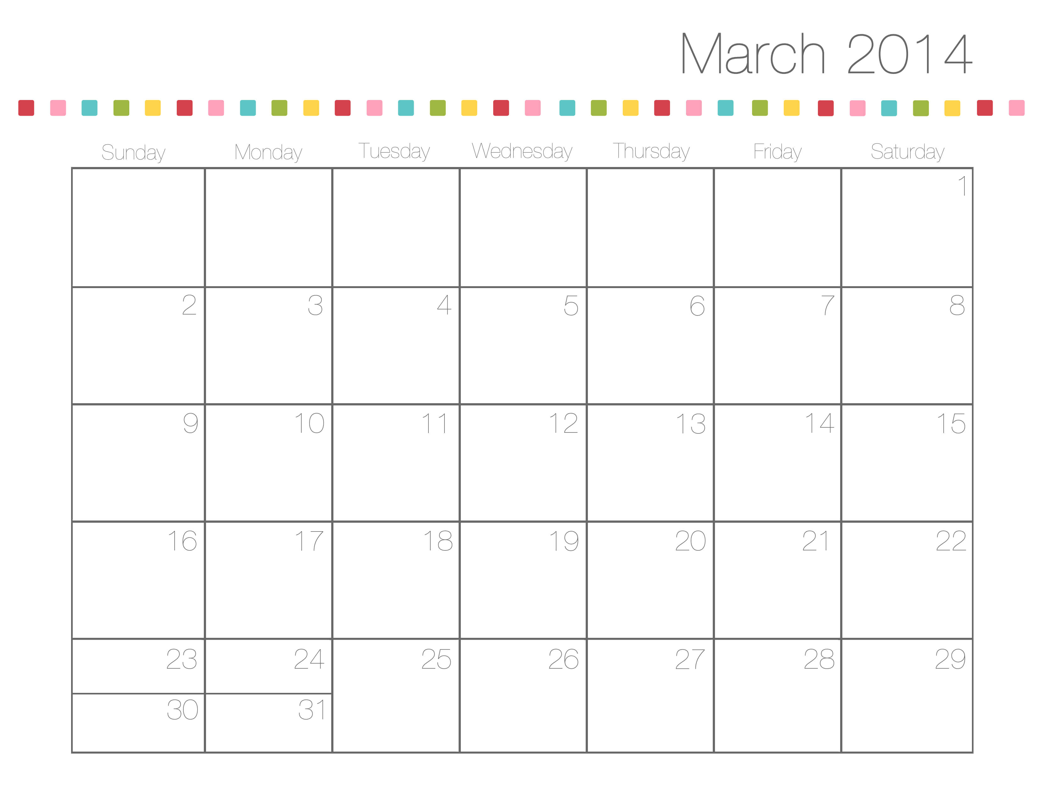 Family Calendar Template 2014 Free Printable Calendars I Heart Nap Time