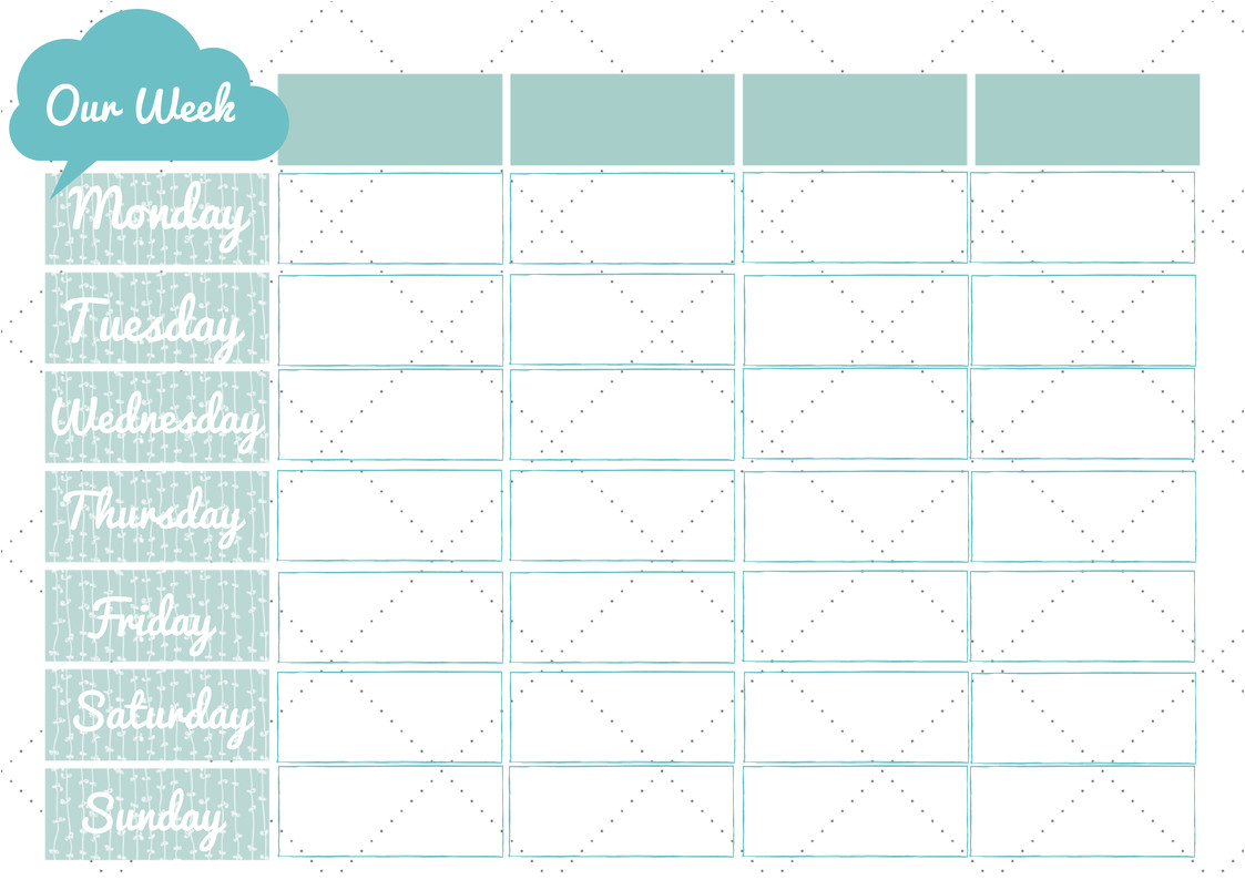 Family Calendar Template 2014 Free Weekly Family Planner Printable Little Pink Teacup