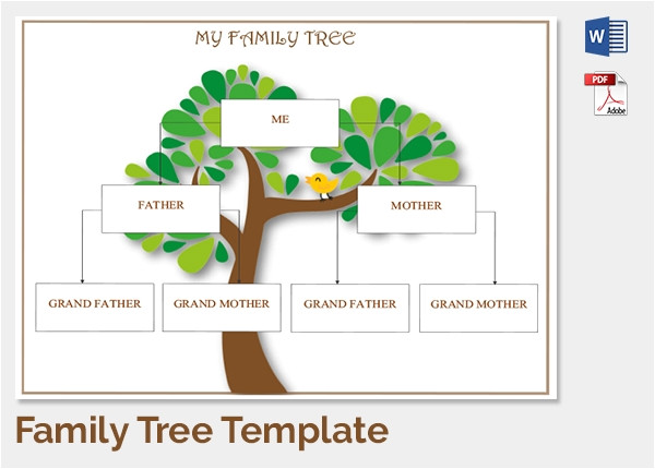 Familytree Template Family Tree Template 37 Free Printable Word Excel Pdf