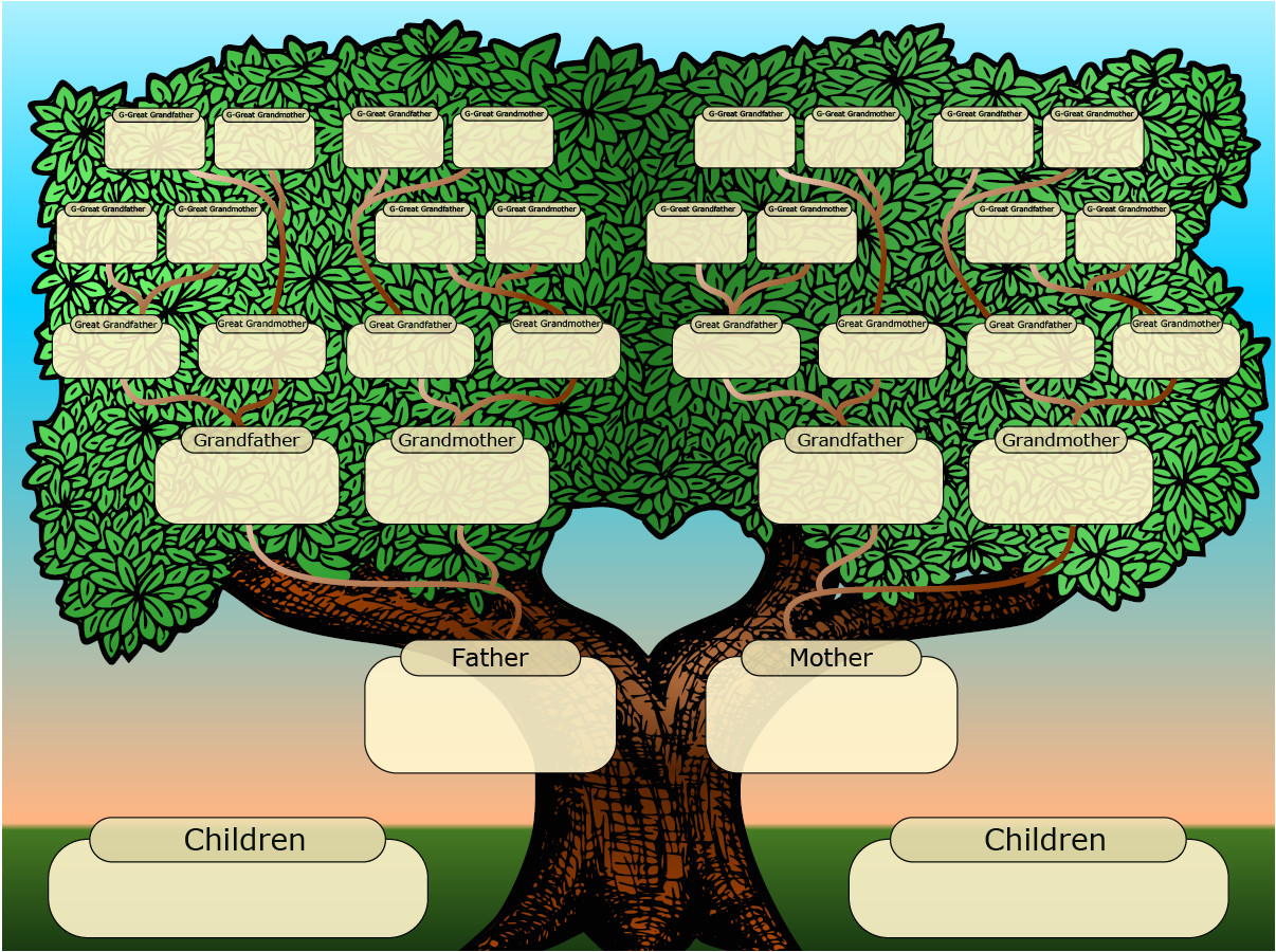 Familytree Template Free Family Tree Templates Printable Versions that You