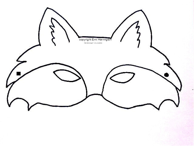 free printable fox mask