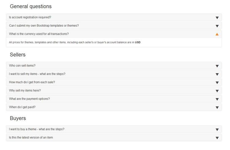 bootstrap faq templates
