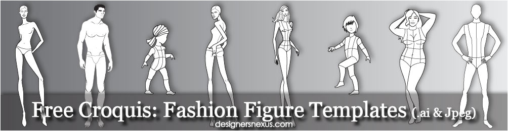 Fashion Designing Templates Free Download Free Fashion Croquis 120 Fashion Figure Templates