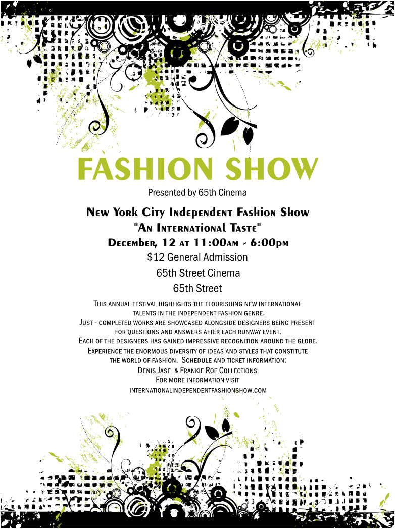 fashion show print design flyer redesigned product