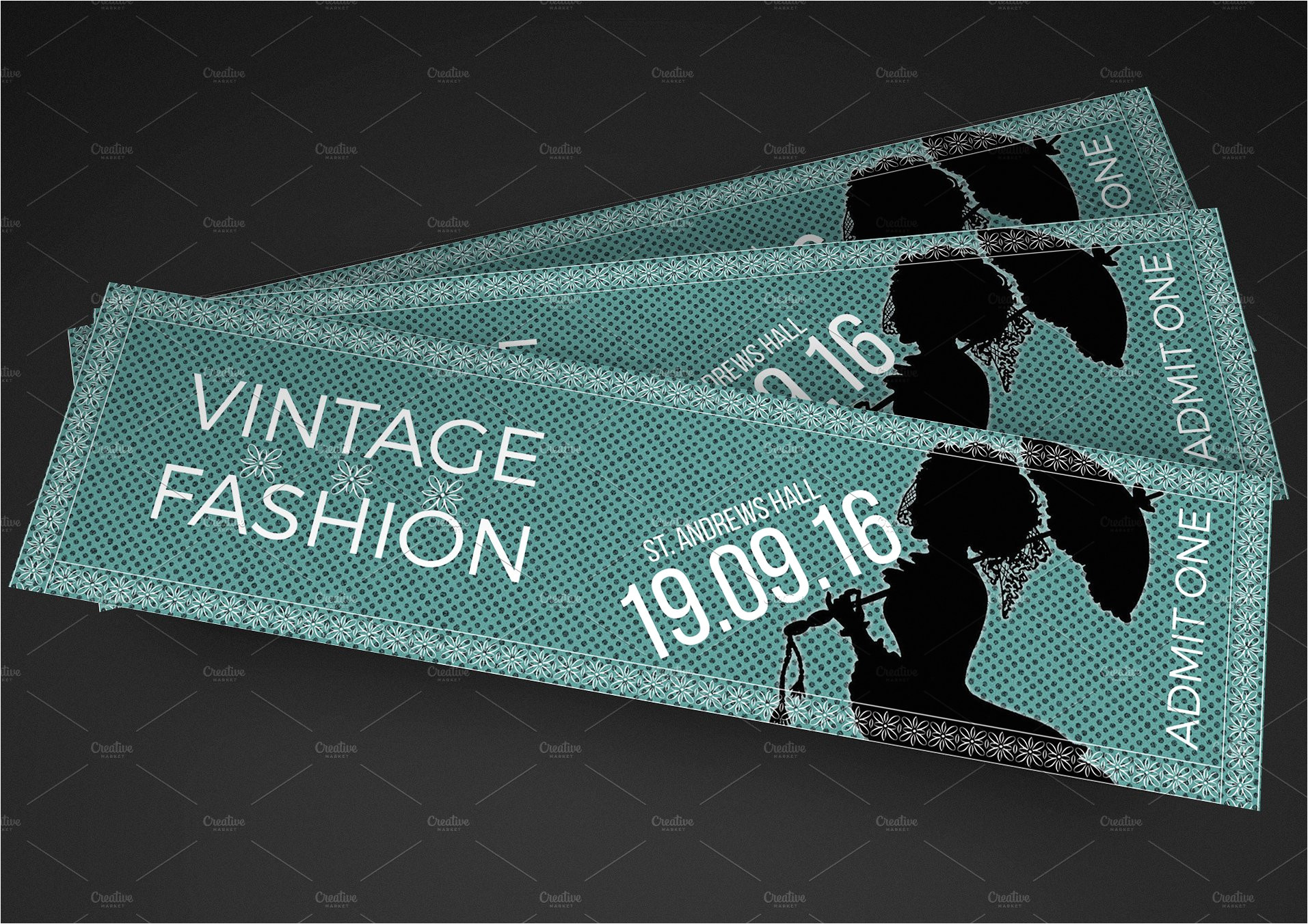 806483 vintage fashion show ticket