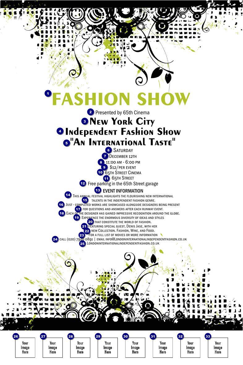 what is fashion show invitation template sitestatrcom