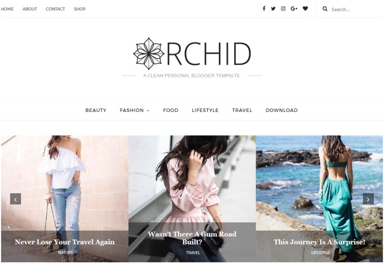 orchid fashion blogger template