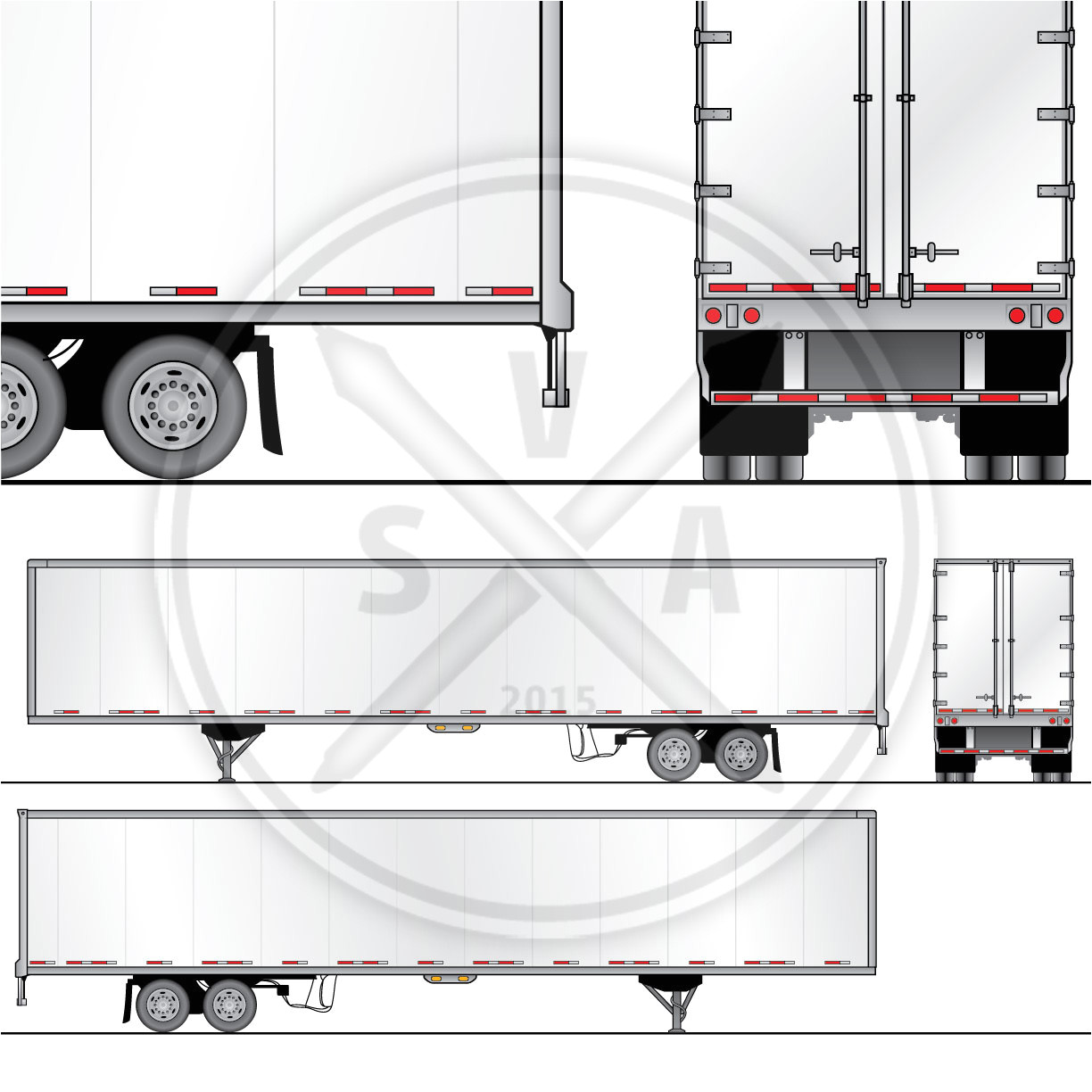 53 foot dryvan trailer wrap design template
