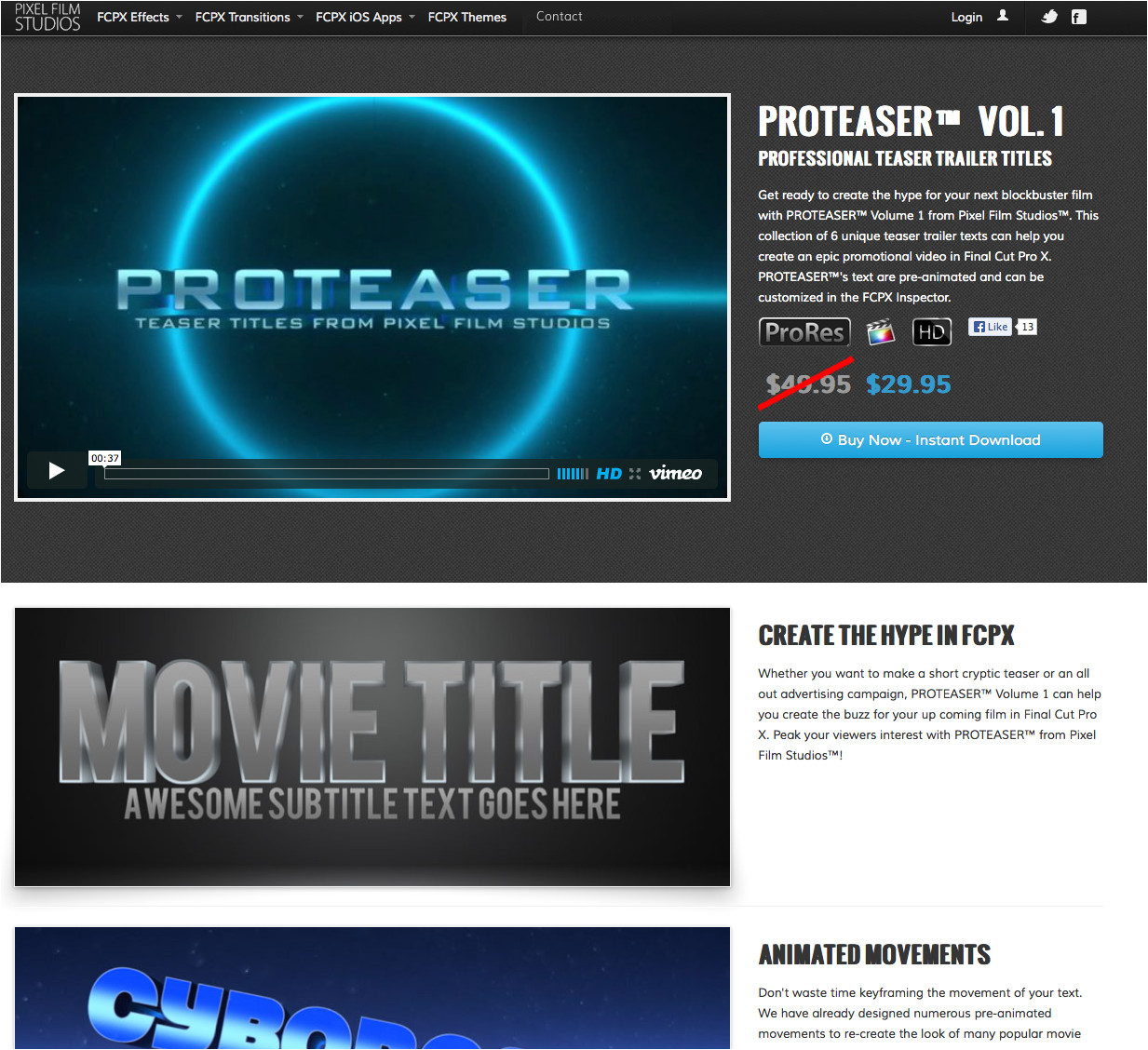 Fcpx Trailer Templates Pixel Film Studios Releases Proteaser Teaser Trailer