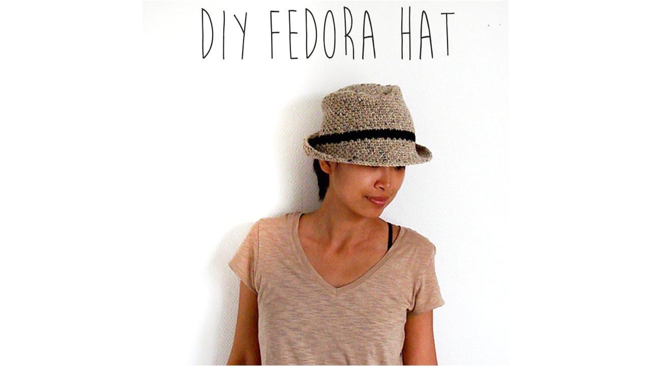 Fedora Hat Template Crochet Fedora Hat Youtube