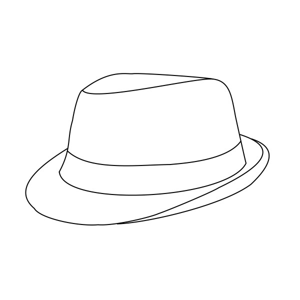 Fedora Hat Template Fedora Lineart Free Use by Emgeal On Deviantart