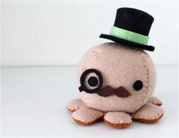 Felt Plushie Templates Felt Octopus Plush Patterns and Instructions Via by