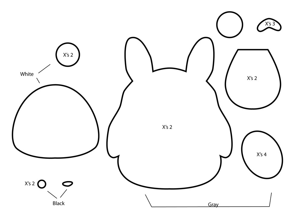 how to make totoro plushie from felt