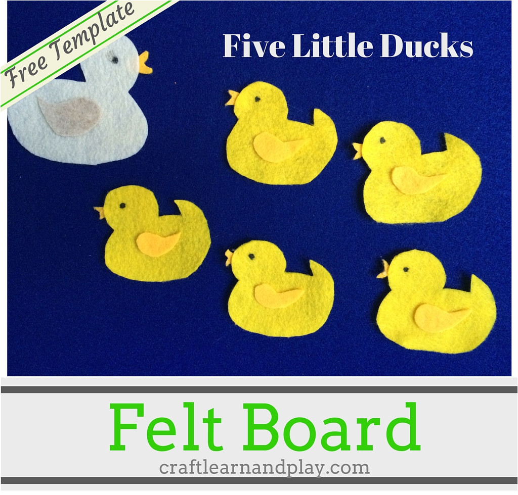 felt board story five little ducks went out one day