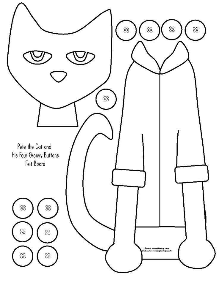 Felt Storyboard Templates Image Result for Felt Board Story Templates Pete the Cat