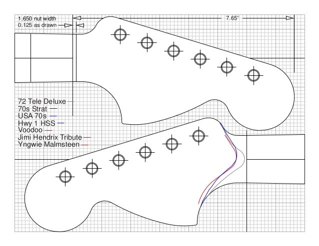 fender jazzmaster body template