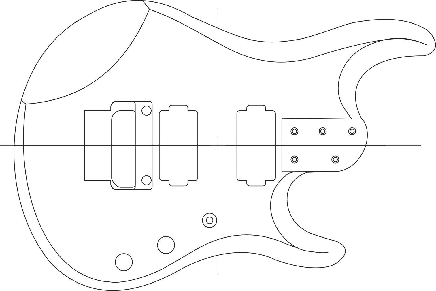 Fender Neck Template 27 Stratocaster Template Electric Guitar Pickguard Steel