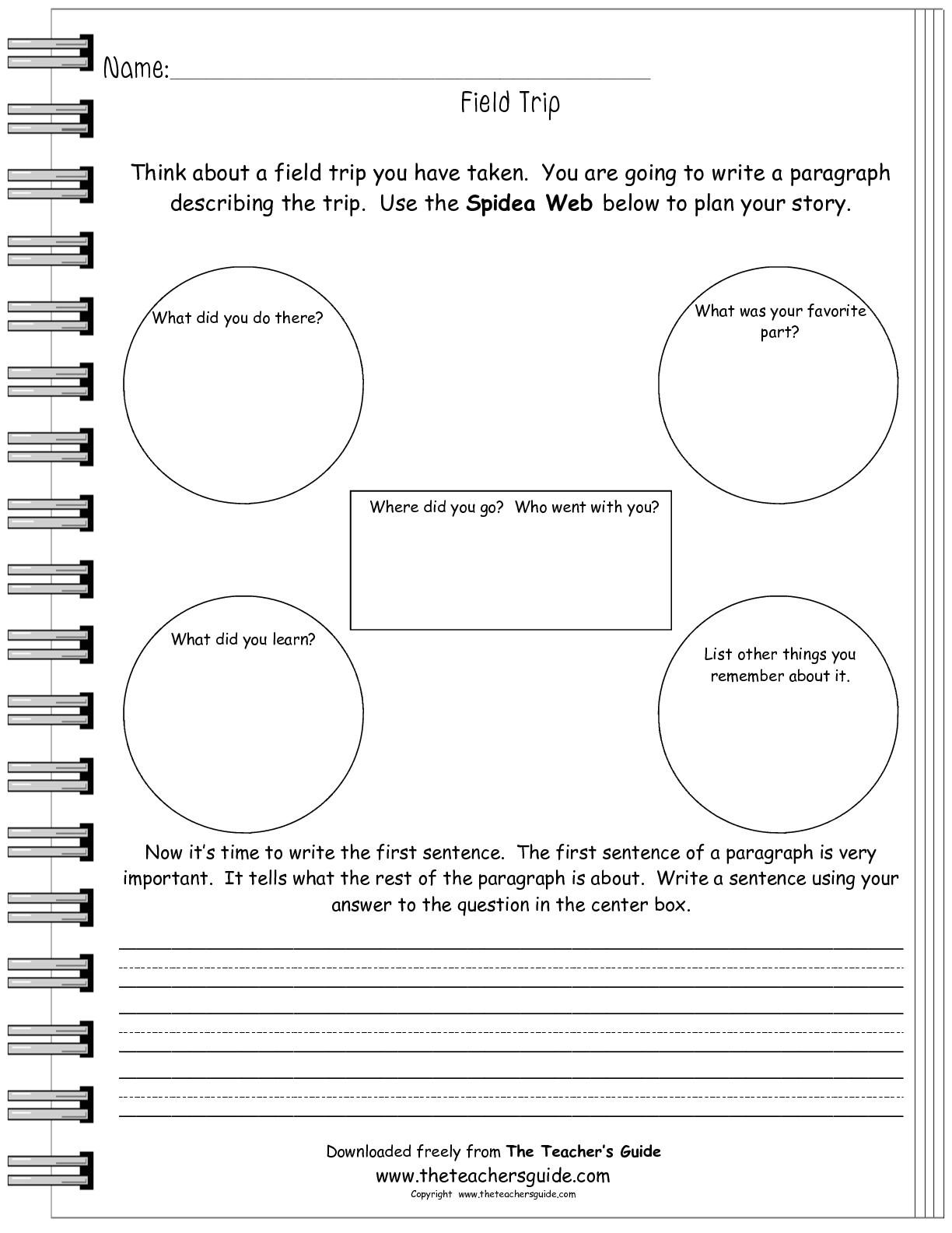 post field trip reflection worksheet 433437