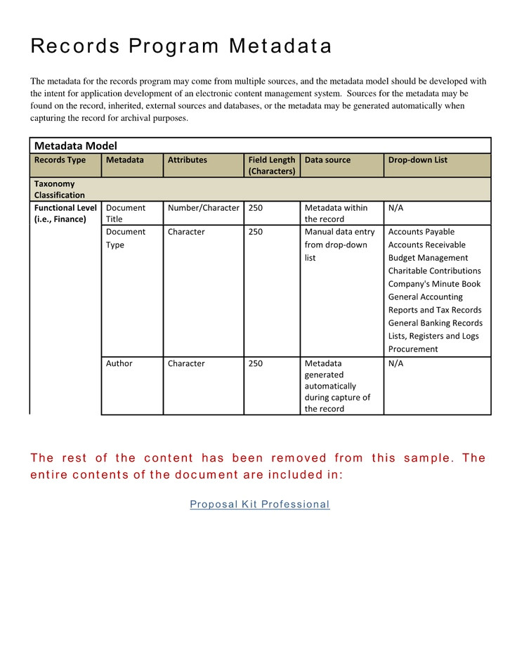 records management toolkit