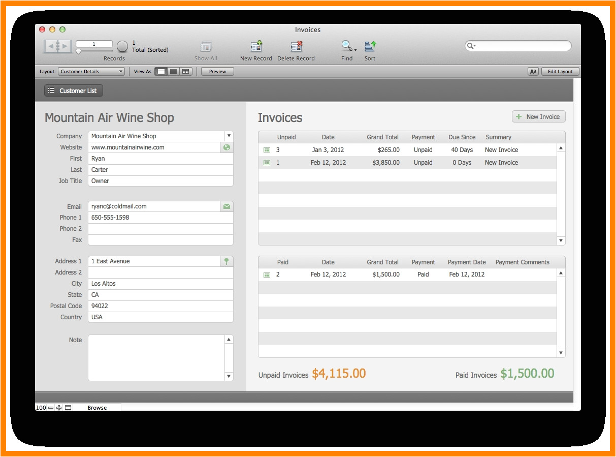 11 filemaker invoice template