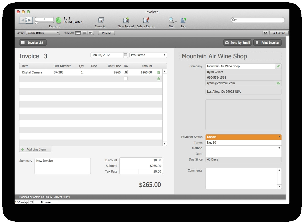 Filemaker Pro Invoice Template Filemaker Pro Invoice Template Invoice Template Ideas