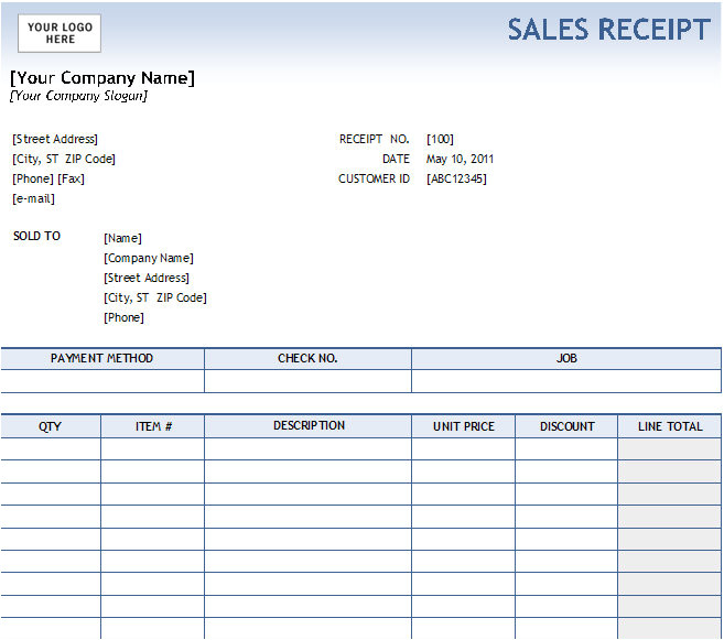 post fill in receipt template 98245