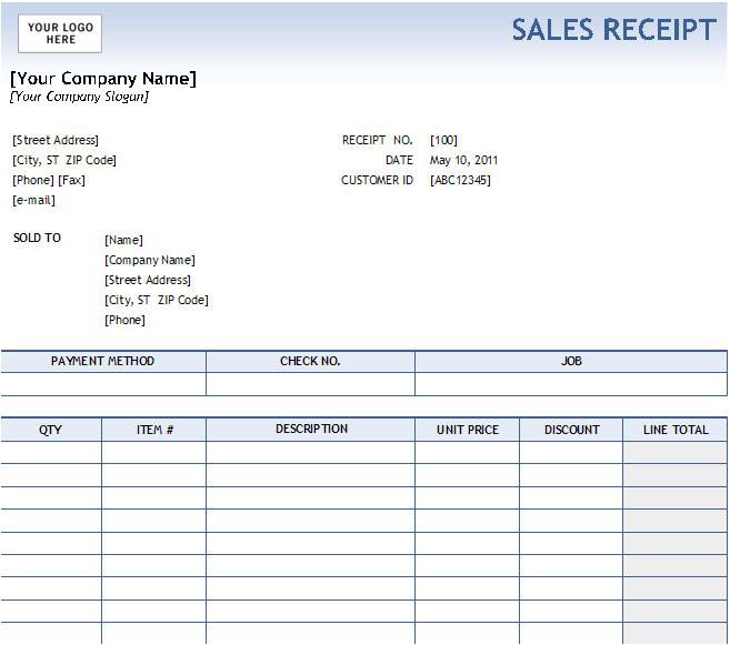 post fill in receipt template 98245
