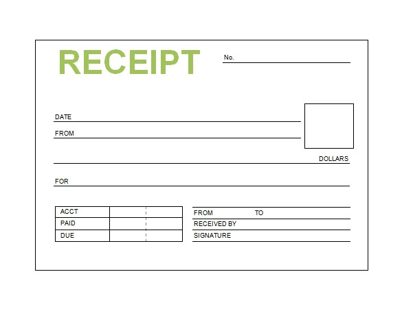 online receipt template awesome editable receipt fill line printable fillable blank