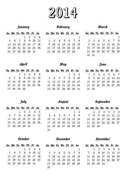 2014 printable calendar download templates
