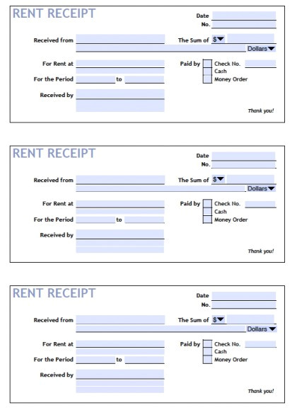 Fillable Rent Receipt Template Download Printable Rent Receipt Templates Pdf Word