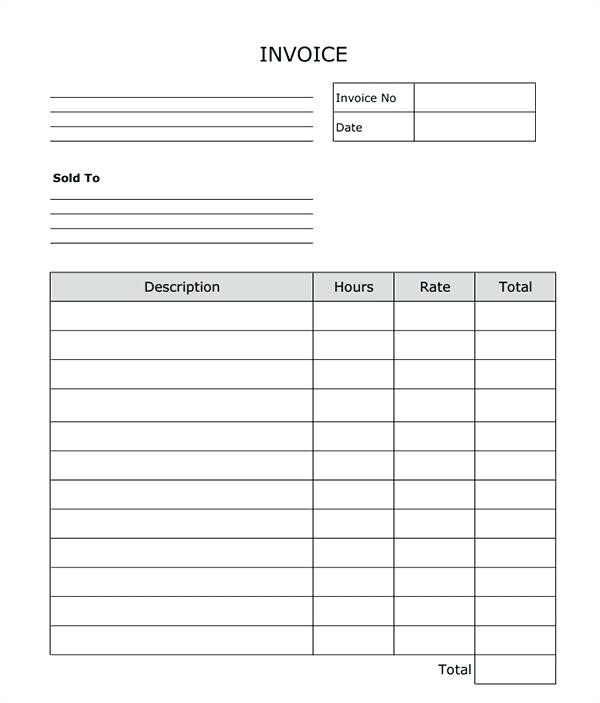fillable receipt template blank invoice word fillable commercial invoice template