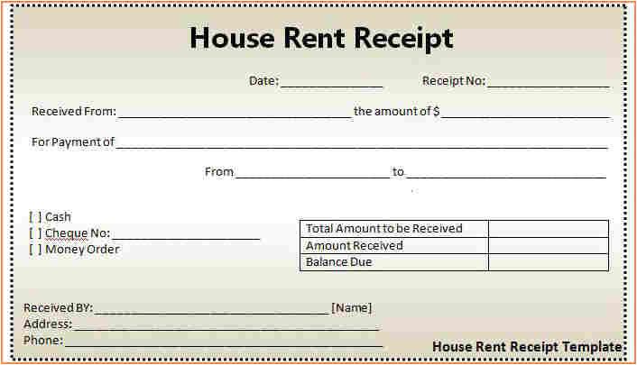 fillable rent receipt 9 rent receipt template excel return receipt form
