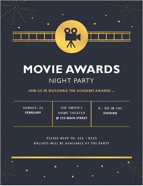 movie invitation template