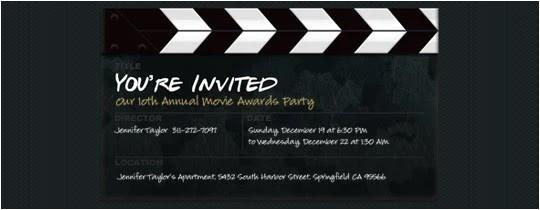 movie invitations template
