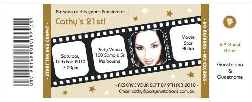 movie premiere invitation template