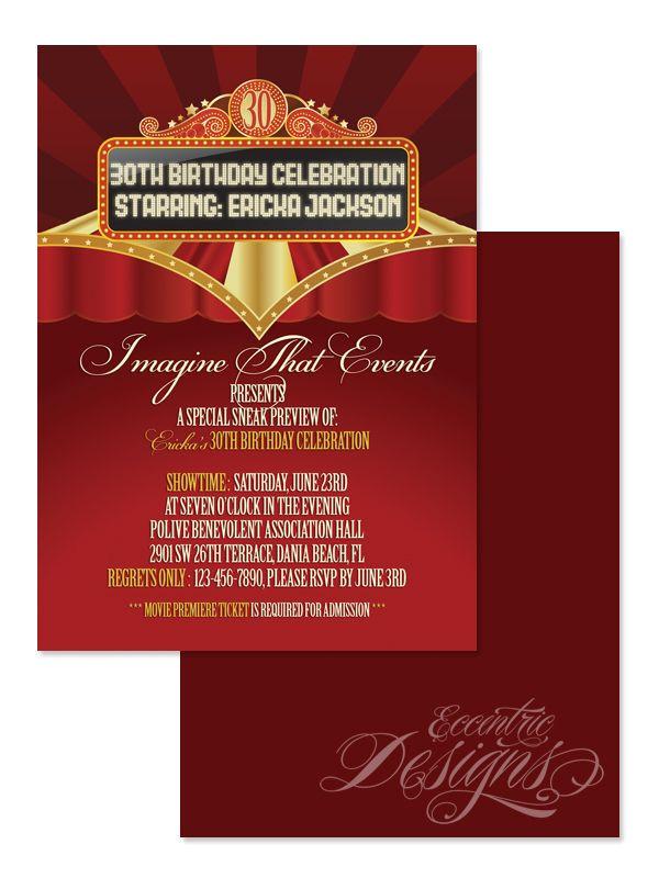 film premiere invitation template