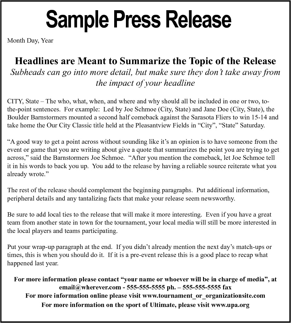writing editing and press releases